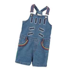 STELLA MCCARTNEY KIDS Girls Denim Short 'Liv' Dungarees