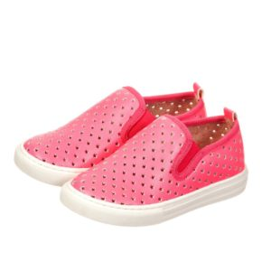 STELLA MCCARTNEY KIDS Girls Neon Pink 'Leo Trainers with Star Design