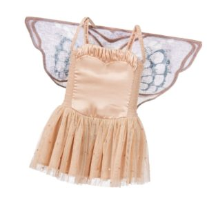 STELLA MCCARTNEY KIDS Peachy Satin & Tulle 'Bonny Dress with Wings