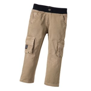 TIMBERLAND Boys Beige Cotton, Regular Slim-Fit Trousers