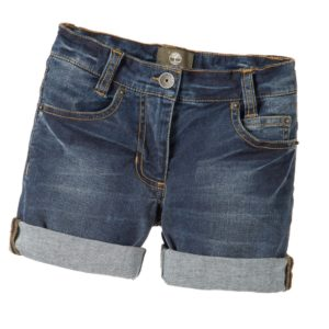 TIMBERLAND Boys Blue Cotton Denim Shorts