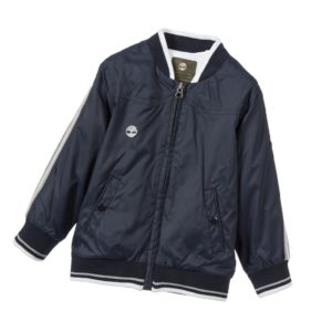 TIMBERLAND Boys Blue Jersey Lined Hooded Zip-Up Jacket