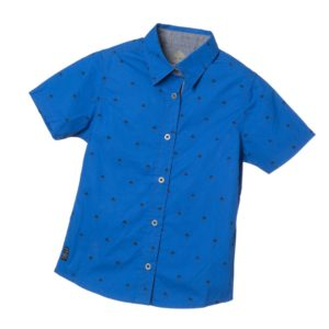 TIMBERLAND Boys Bright Blue 'Palm' Print Shirt
