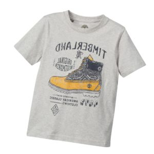 TIMBERLAND Boys Grey 'Original Bootmakers' Print T-Shirt