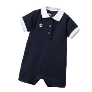 TIMBERLAND Boys Navy Blue Cotton Jersey Shortie