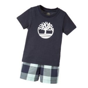 TIMBERLAND Boys Navy Blue Pyjama Shorts Set