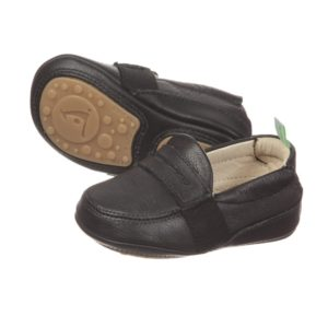 TIP TOEY JOEY Boys Black 'Sharpy' Leather Loafers