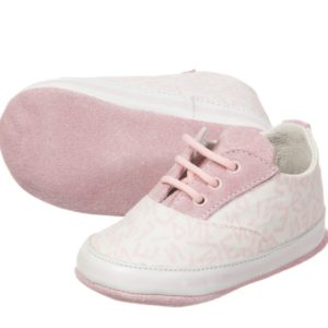 FENDI Baby Girls Pink & White Logo Pre-Walker Shoes