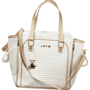 MAYORAL NEWBORN Ivory & Gold Baby Changing Bag