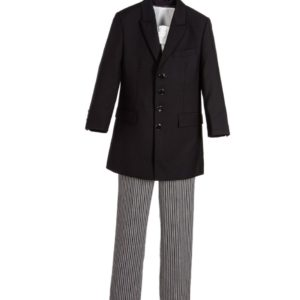 COUCHE TOT Boys Grey Wool 4 Piece Trouser Suit