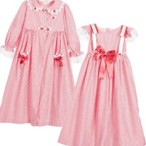 COUCHE TOT Girls Red 2 Piece Nightwear Set