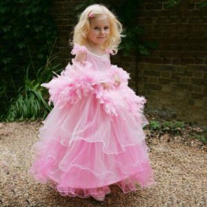 DRESS UP BY DESIGN Pink 'Frilly Milly' Costume with Boa1