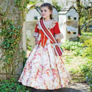 DRESS UP BY DESIGN Red & Ivory 'Floral Countess' Dress-Up Costume1
