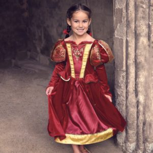 DRESS UP BY DESIGN Red Medieval Queen DressUp Costume1