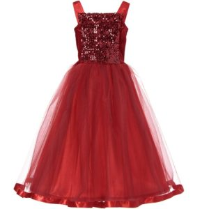 DRESS UP BY DESIGN Ruby Red Sequin Dress-Up Ballgown