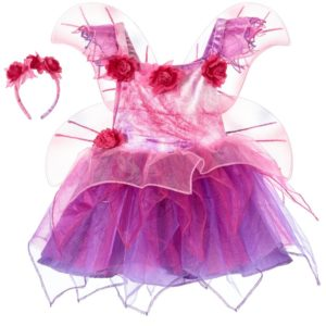 DRESS UP BY Girls Pink Fairy Dress Up Costume