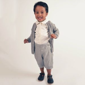 KIDIWI Boys Shirt & Grey Shorts 2 Piece Set
