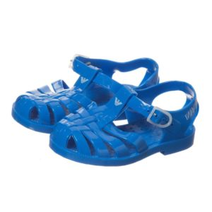 ARMANI BABY Baby Bright Blue Jelly Shoes