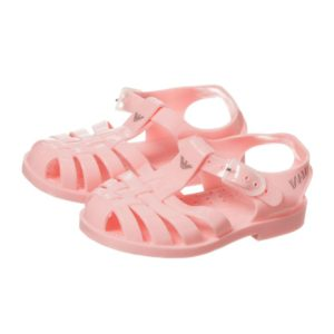 ARMANI BABY Baby Girls Pink Jelly Shoes