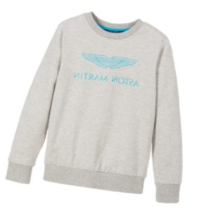 ASTON MARTIN Boys Grey Cotton Logo Sweatshirt
