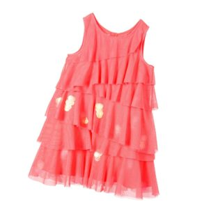 BILLIEBLUSH Girls Neon Pink Tulle Dress