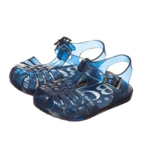 BOSS Blue Logo Jelly Sandals
