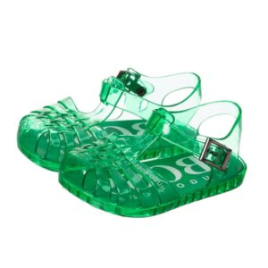 BOSS Green Logo Jelly Sandals