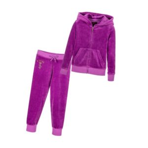 JUICY COUTURE Girls Purple Velour Tracksuit
