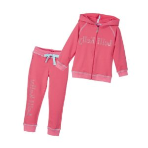 LELLI KELLY Girls Coral Pink Jersey Tracksuit