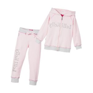 LELLI KELLY Girls Pale Pink Jersey Tracksuit