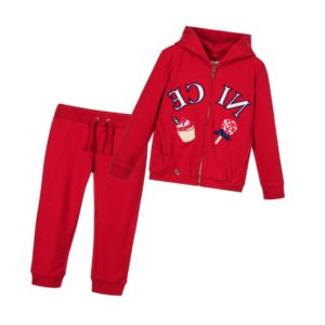 MAYORAL Girls Red Tracksuit