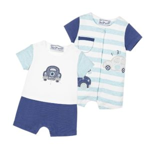 MAYORAL NEWBORN Baby Boys Blue Shorties Pack of 2 Gift Set