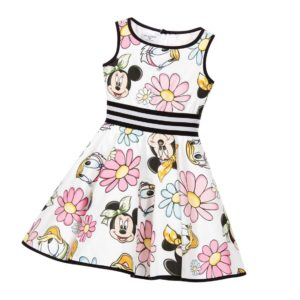 MONNALISA BIMBA Girls White Minnie Mouse Dress