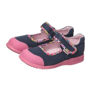 PEDIPED FLEX (1-12YR) Girls Denim 'Bree' Canvas Shoes