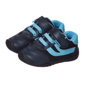 PEDIPED GRIP 'N' GO (9-36MTH) Boys Navy Blue 'Cliff' Trainers