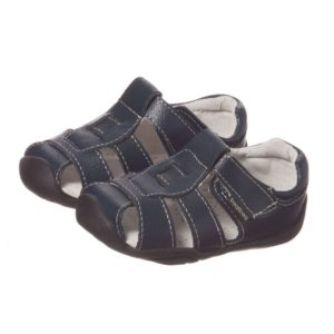 PEDIPED GRIP 'N' GO (9-36MTH) Boys Navy Blue Leather Sandals