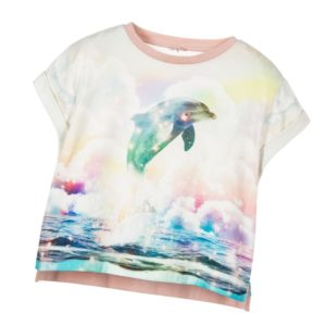 STELLA MCCARTNEY KIDS Girls Dolphin Print Cropped Top