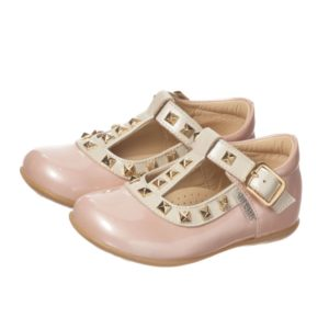 STEP2WO Girls Pink Patent T-Bar Shoes