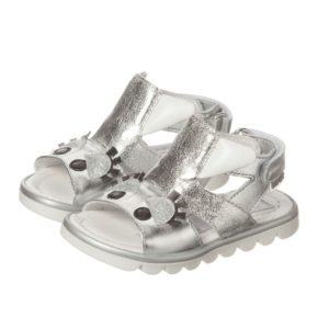 STEP2WO Girls Silver Monster Sandals