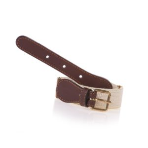 ZACCONE Girls Ivory Elasticated Belt with Heart