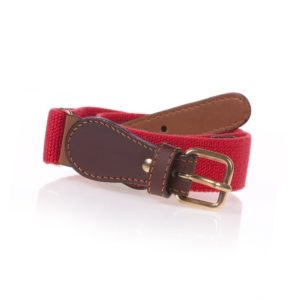 ZACCONE Girls Red Elasticated Belt with Heart